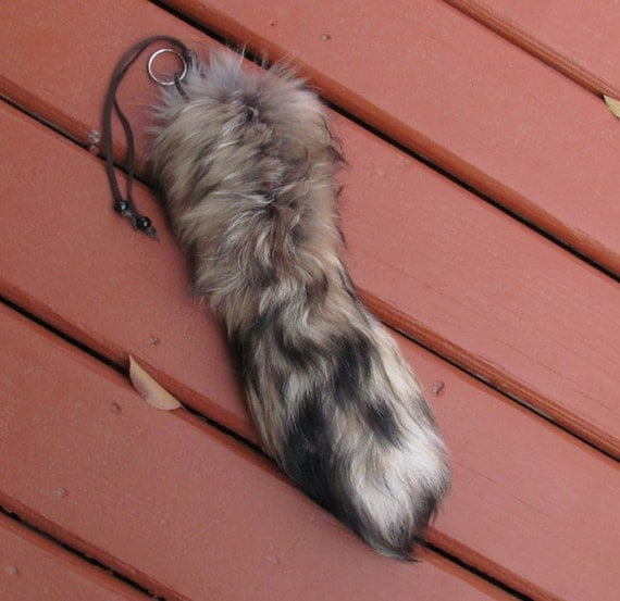 Real XXL FinnRaccoon Tail Keychain