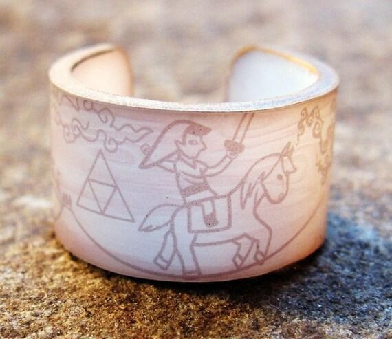 Legend of Zelda Ring - Woodcut style
