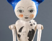 RESERVED for Pauline - SALE - Clay and Drawing Art Doll - Meira