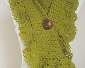 FREE SHIPPING..Pistachio Green Long Mohair Hittite Shawl..scarf,shawl,necktie, shrug, wrap, stole, capelet, scarflette
