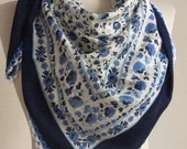 Cotton SCARF Rectangle scarf  Fabric scarf-shaw l, woman gift mom gift