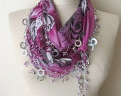 Traditional Turkish Oya  Scarf...authentic, romantic,elegant, fashion,weddings,bridal,vintage,