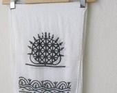 Traditional Turkish Wooden Hand printing Off-White Oya Scarf..authentic, romantic, elegant, fashion,white,weddings,bridal,