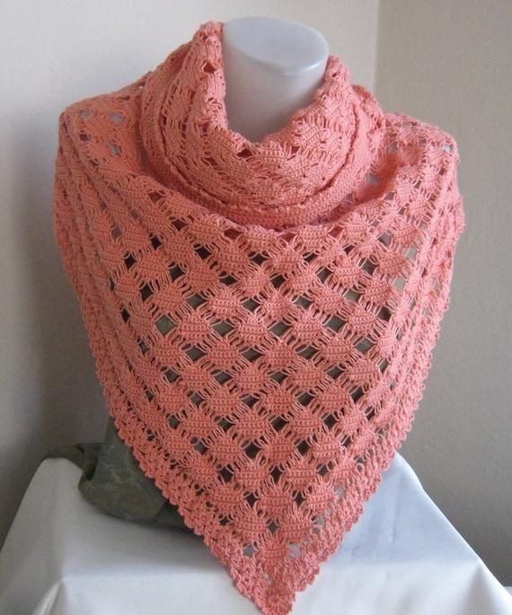 Unique Tea rose (orange) Mercerized shawl / Wedding Shawl / Bride Shawl / Bridal Shawl / Shrug