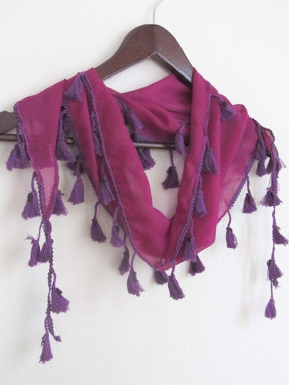 Tasseled Turkish Cotton Scarf ..%100 Cotton..bridal,scarf,authentic, romantic, elegant, fashion,