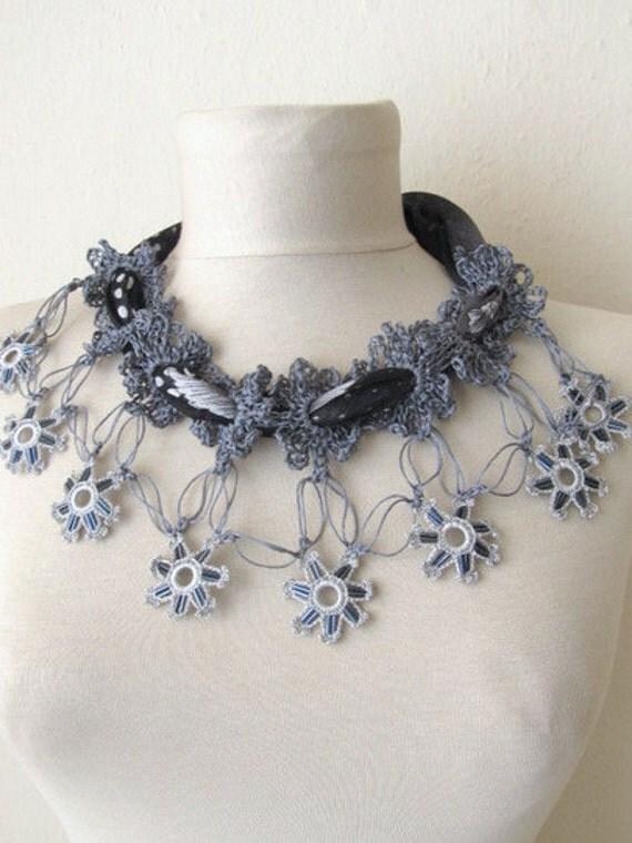 YEMENI  necklace BLACK-GRAY  multicolor, romance ,mom gift,mothers day
