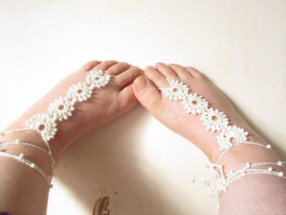 barefoot sandal // lace barefoot sandal // wedding barefoot sandal // yoga barefoot sandal // barefoot thongs // beach wedding