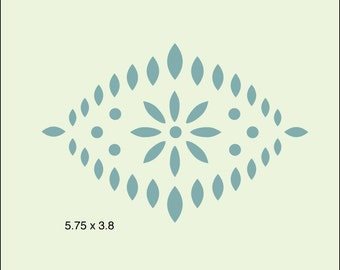 The Artful Stencil, Motif 5 Stencil, -5.75 in. x 3.8 in.,10 mil Mylar, walls, pillows and sign painting