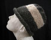 hat-charcoal grey, ivory