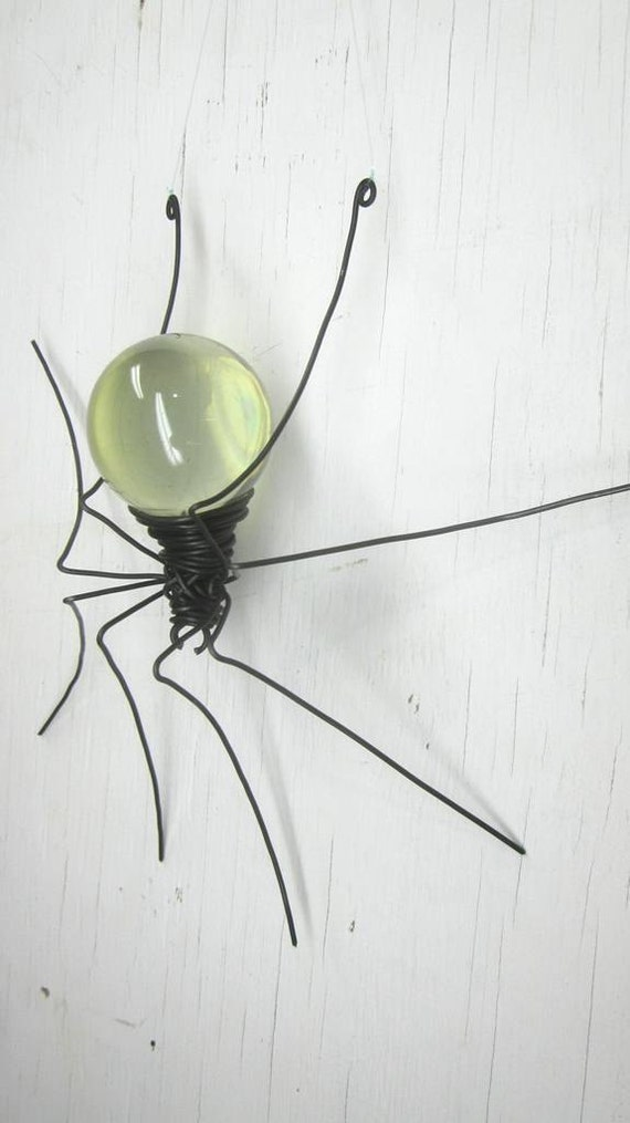 Clear  Sun Catcher Window Spider Repurposed Hanging Art