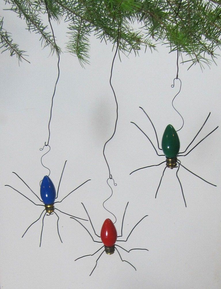 Lucky Christmas Spider Christmas Tree Ornaments Set of 3