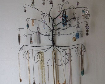 Wire Colossal Wall Mount Earring Necklace  Jewelry Tree Display pre order
