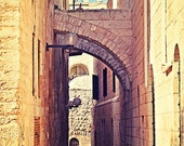 Jerusalem Alley - Old City Jewish Quarter - Israel Photography - 8x12 Fine Art Photo - Made in Israel