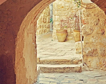 Jerusalem Courtyard - Old City - Israel Travel Photography - 5x7 Fine Art Photograph