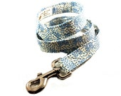 Country Print Blue and White Fabric Dog Leash by jenniebgoode