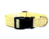 Iced Honey Gold and Cream Fabric Dog Collar