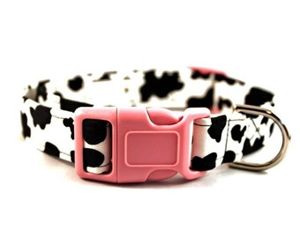 Holy Cow  Cow Print Dog Collar by jenniebgoode