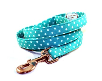 Mint Green Geometric Patterned Dog Collar By