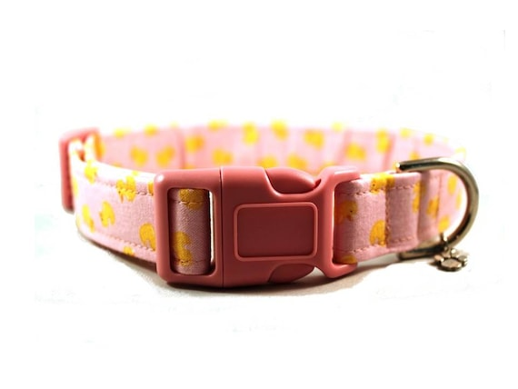Rubber Ducky - Pink Dog Collar by jenniebgoodecollars