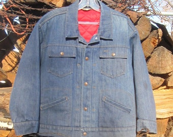 Vintage Indigo Denim Jacket from Montana - Work Jacket from The Wild West