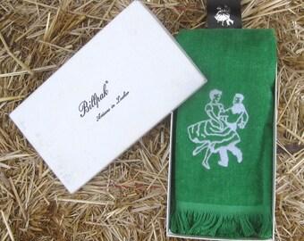 "Mint Vintage Square Dance Swing  Hand Towel w/Belt Holster in Original ""Billpak"" Gift Box"