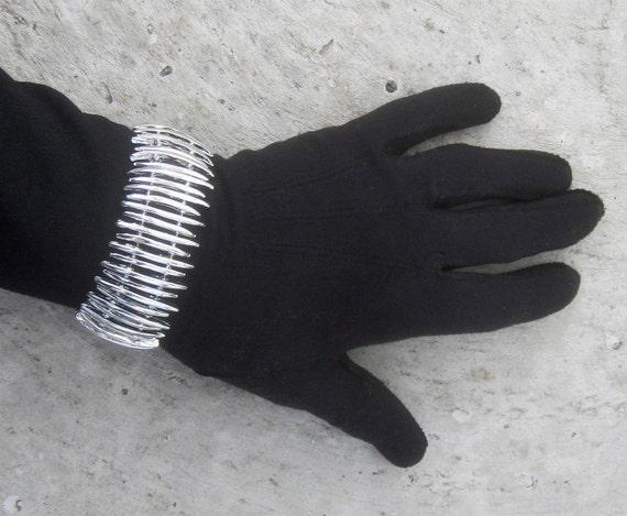 Vintage 1950's- 1960's Steam Punk Serpentine Silver Toothed Modernist Bracelet