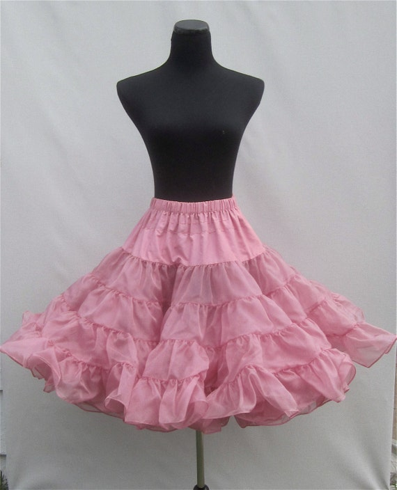 Poofy Vintage Dusty Rose Organza Can-Can Crinoline Slip Petticoat -RESERVED FOR KEITH