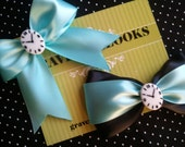 Alice in Wonderland Inspired Robins Egg Blue Hair Bow // Choose your FAVORITE