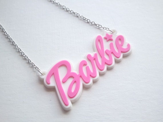 Retro Kawaii Barbie Necklace