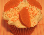 ORANGE DREAMSICLE Jumbo Cupcake Candle
