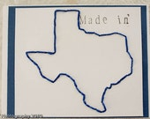 Custom (made in) state embroidered cards