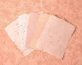 "Free shipping - Handmade Paper in Natural Colors 6""x8"""