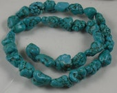 Blue Howlite Mock Turquoise Bead 25-30 mm 17 pieces destash SALE