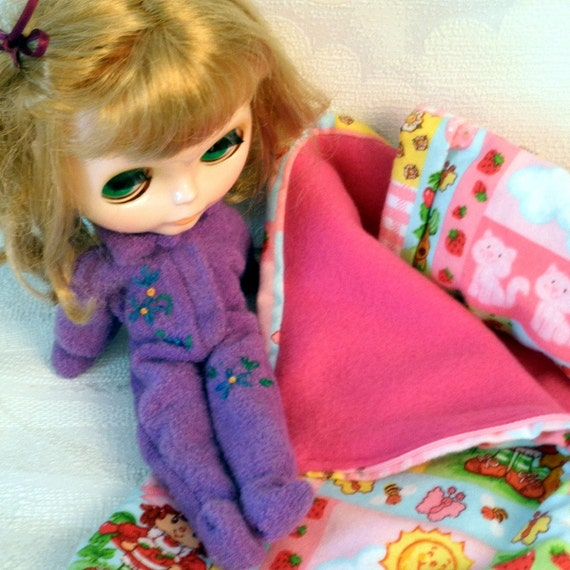 FOOTED PAJAMAS Embroidered Lavender PJ's for Blythe