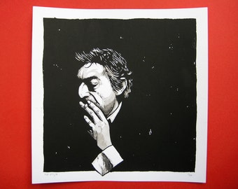 Serge Gainsbourg limited edition screenprint