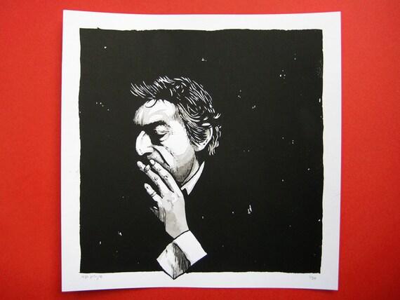 Serge Gainsbourg limited edition screenprint