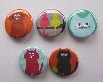 Magnets set of 5 button magnets
