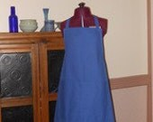 Tardis Blue Canvas Apron with Pockets