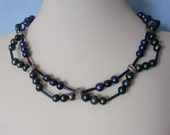 Two Strand Freshwater Pearl Choker Necklace
