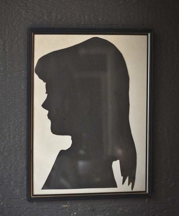 Framed Girls Silhouette