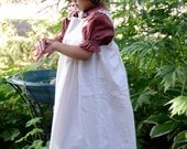 Girls Pioneer Dress with Bonnet and Pinafore sizes 2-12