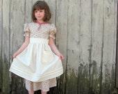 Prairie Outfit- Dress, Apron and Bonnet Sizes 2-12