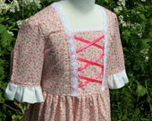 Girl's Colonial Dress with Cap Sizes 2-6