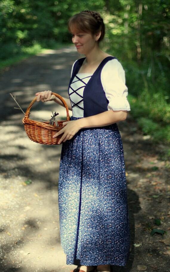 Ladies Maria's Austrian Floral Dress Size 10- Ready to Ship