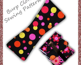 Contoured Burp Cloth Sewing Pattern