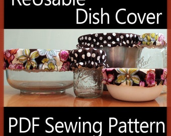 Cloth Bowl Covers Sewing Pattern - INSTANT DOWNLOAD