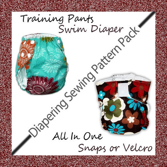 Cloth Diaper Pattern, Training Pants Pattern, Swim Diaper Pattern COMBO