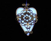 Violet Heart  Glow In The Dark Locket