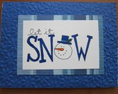 Let it Snow Holiday Christmas Cards-- Set of 5 cards and envelopes