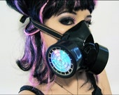 LED Gas Mask Burning Man Rave Wear Cyber Goth Steampunk